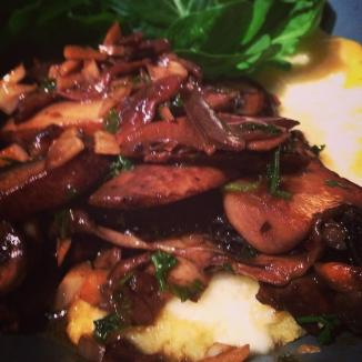 Ottolenghi Mushroom Ragout with Cheesy Polenta